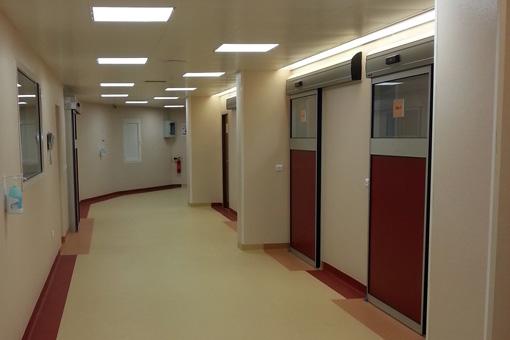 Corridor in Mohamed Bouafi Hospital