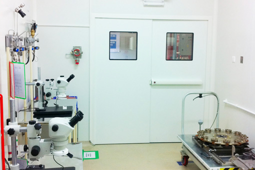 Clean rooms and a metrology room in the Delphi's factory from Iași Romania