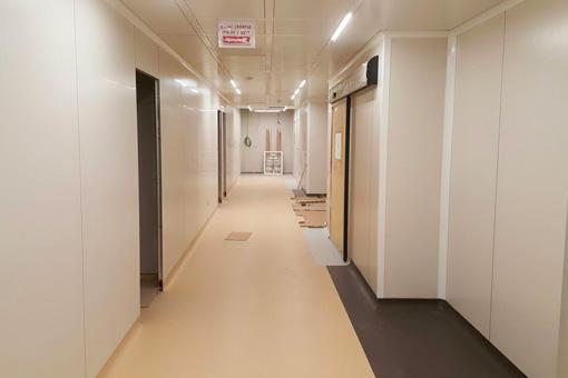 Marrakech Medical Center BO corridor view 05
