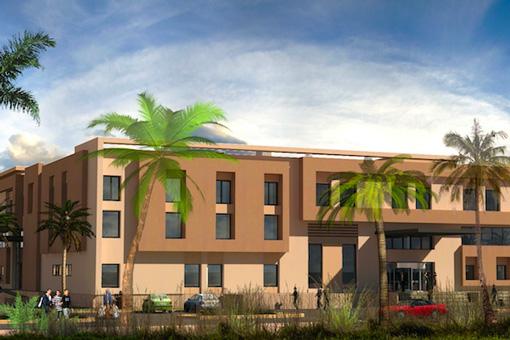 Marrakech Medical Center facade view 01