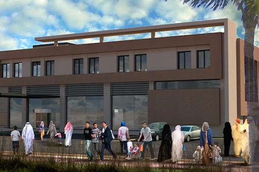 Marrakech Medical Center facade view 02