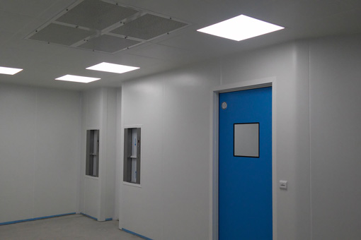 Corridor of the operating theater and IFV laboratory Genesys Clinic in Bucharest, Romania