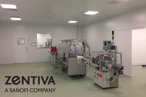 Packaging Area in Pharmaceutical Production Facilities in Zentiva S.A., Bucharest, Romania