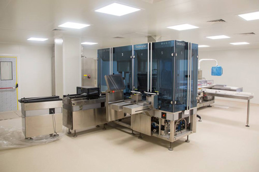 Pharmaceutical production facilities and microbiology lab in IM Farmaco SA, Chisinau, Moldova - view 02