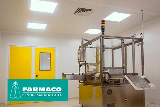 Pharmaceutical production facilities and microbiology lab in IM Farmaco SA, Chisinau, Moldova