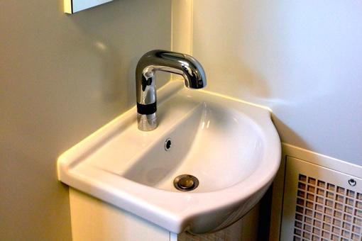 Sink in clean room emergency children hospital Turcanu