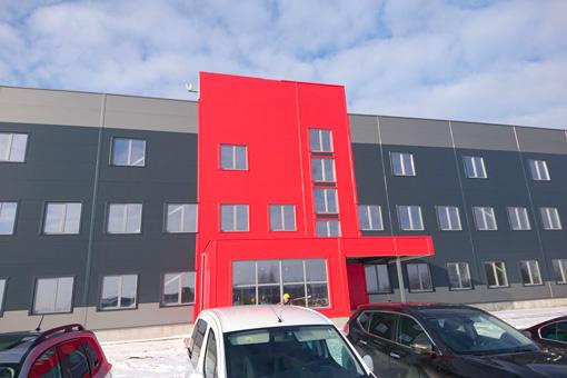 AHLDE UAB Escolit building at Telsiai