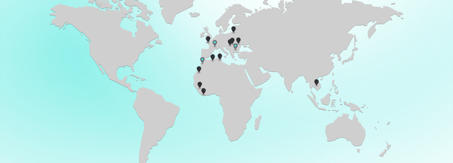 Map of AHLDE clients and projects